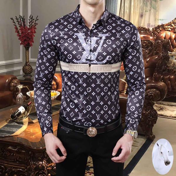 Бесплатная доставка Medusa рубашки мужские рубашки мужские рубашки Бизнес Повседне фото