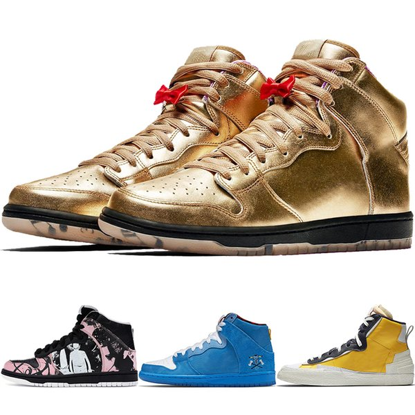 Dunk High Pro SB Unkle кроссовки Familia Blue Bota мужская спортивная обувь Влажность Модная повсе