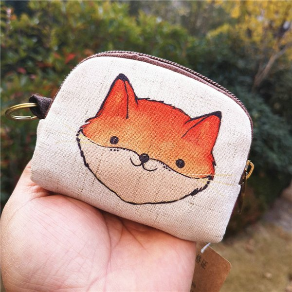shell purse new style cotton linen printed cartoon change key coin purse wallet (530448421) photo