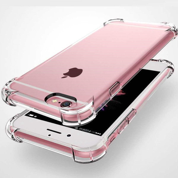 For iphone x max xr x 8 7 6 plu ca e tran parent clear hockproof ilicone lim tpu cover for am ung 9 10 plu note 8 9 air bag cu hion