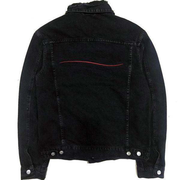 Famous Mens Denim Jacket Men Women High Quality Casual Coats Black Blue Fashion Mens Stylist Jacket Outerwear Size M-XXL
