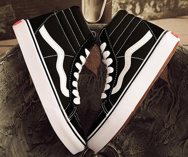Старый skool Мужские женские кроссовки из холста черный белый ЯХТ-КЛУБ MARSHMALLOW мода с фото