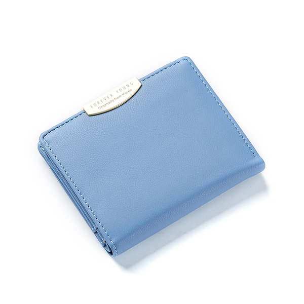 small women wallet purses solid simple ladies short wallets mini girls coin purses credit card holders female bag (458903194) photo