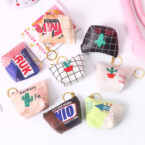 0713 simple cartoon students purse hipster short korean-style zipper mini purse mini coin bag (530429803) photo