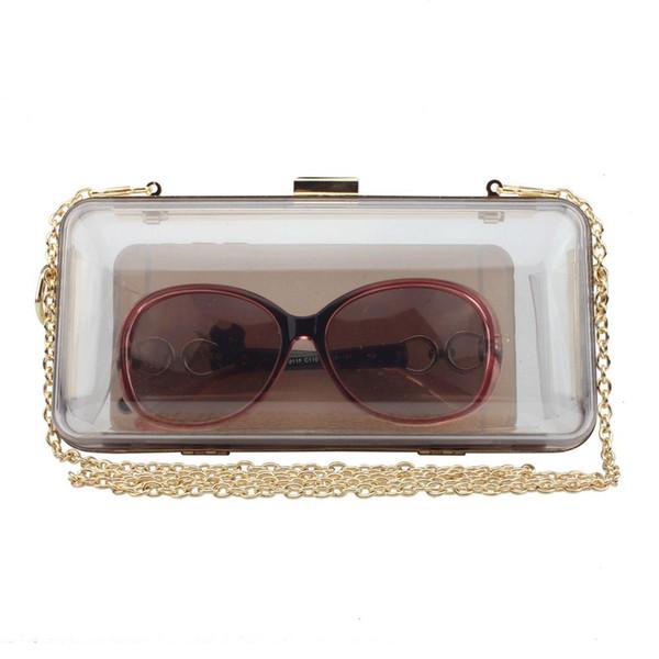 luxury bag clear purse designer handbags shoulder bag clutch evening solid acrylic clear box bolsa feminina (501624485) photo