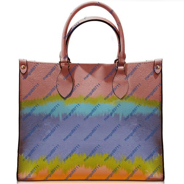 gradient colour designer handbag leather designer womens handbags flower womens crossbody bags designer bag handbags purse (539640340) photo