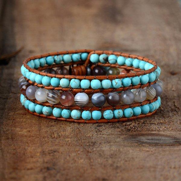 women_designer_bracelets_natural_stones_botswana_onyx_turqouise_cuff_bracelets_vintage_bohemia_steampunk_bracelet_femme_jewelry