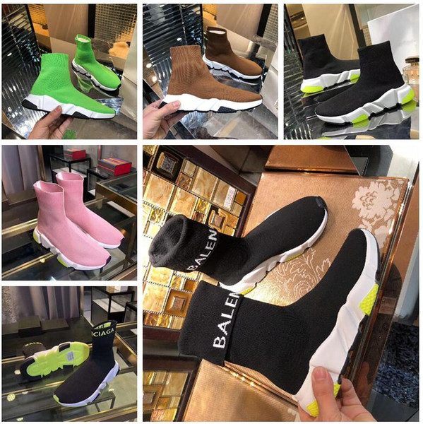 [with logo top boxed]more color-6 with Tote bag,Certificate,invoice mens womens men women balenciaga shoes Speed stretch-knit sneakers