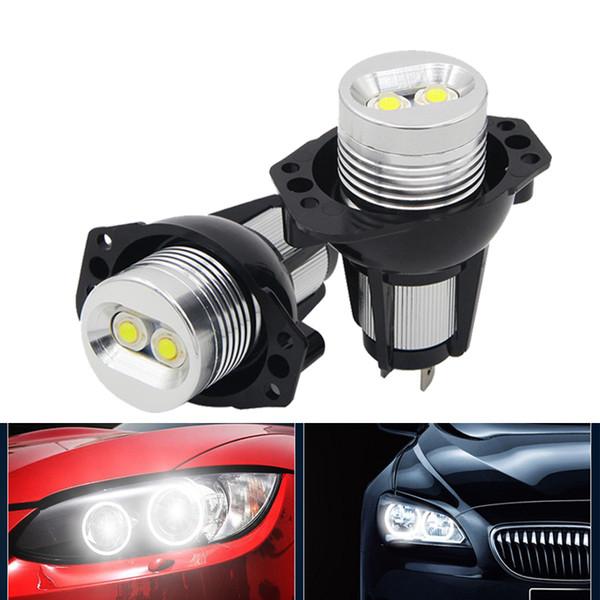 Автомобильные светодиодные 10W ангельские глазки габаритные огни для BMW E90 E91 325i 325xi фото