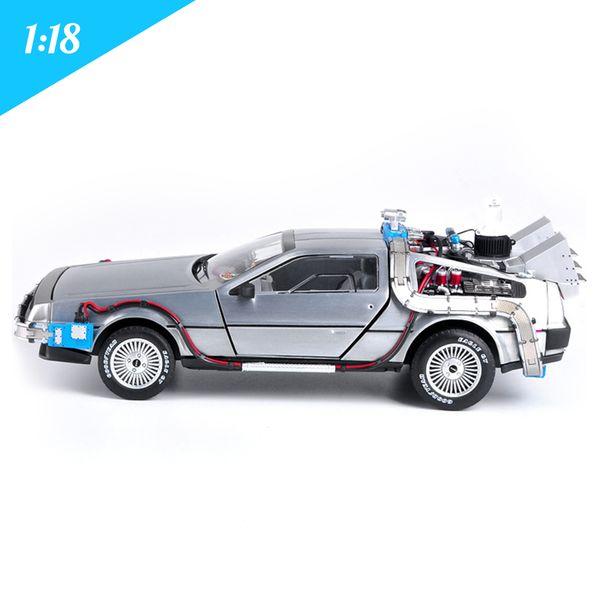 1:18 Diecast Model Cars Arabalar Dmc 12 Delorean Time Назад В Будущее Автомобильные Игрушки Металлическая Модель Автомобиля Для Детей Игрушки Коллекция Подарков