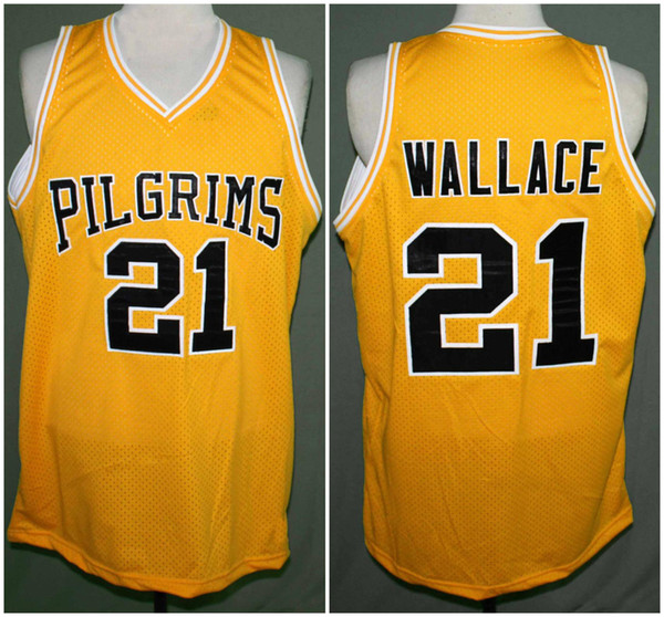 Rob Brown Jamal Wallace #21 Pilgrims Finding Forrester Movie Retro Basketball Jersey Mens Stitched Custom Number Name Jerseys size S M L XL XXL color white Sales model: mix order Material: 100% Polyester free shipping by China post or EUB more then 50pcs sent DHL ups
