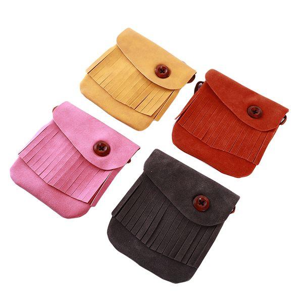 2019 fashionable simple fringe style children's coin purse girl shoulder crossbody coin bag children cute cashmere purse (511485739) photo