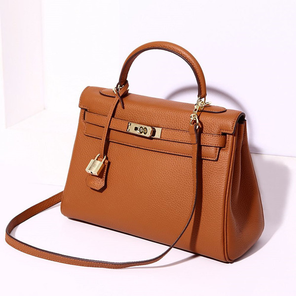 pink handbags women shoulder bags genuine leather handbags purses crossbody bags tote messenger bag (549230110) photo