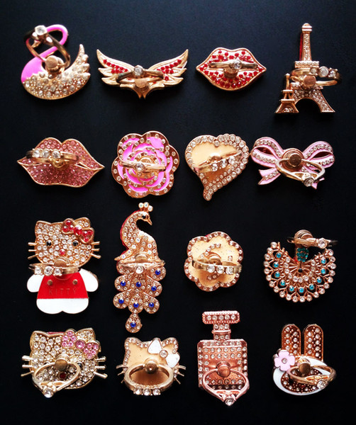 Ring phone holder bling diamond unique mix  tyle cell phone holder fa hion for iphone 6 7 8 x  am ung  8 cellphone  tand ipad