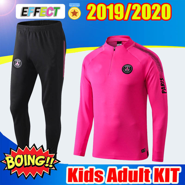 2018 2019 p g pink air training uit kit urvetement mbappe kid 18 19 20 pari aint germain aj track uit football urvetement kit