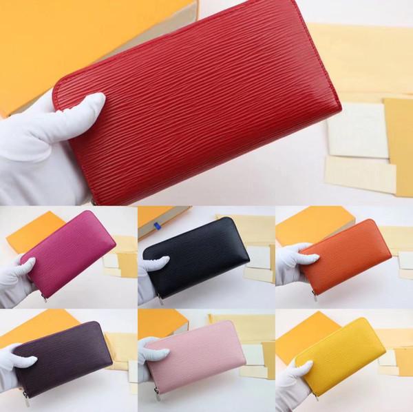 leather men's business long wallet purse cardholder upscale gift box card case holder classic fashion designer purse 60017 (478266621) photo