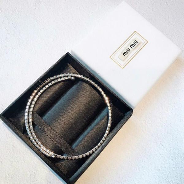 ожерелье дизайнер ювелирных изделий bijoux цепи хип-хоп колье колье колье Марка мм стерлингового серебра Кристалл роскошный кулон со льдом цепи колье женщины