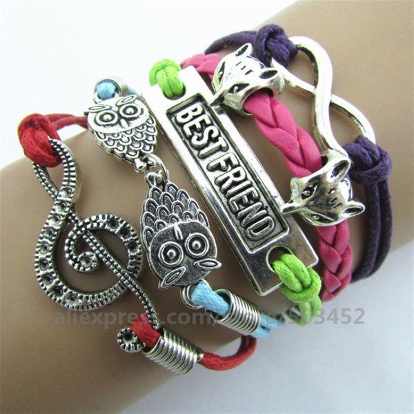 200pcs_lot_music_friend_charm_bracelet_braided_wholesales_bracelets_owl_&_8_women_bracelet_leather_bracelets_sets