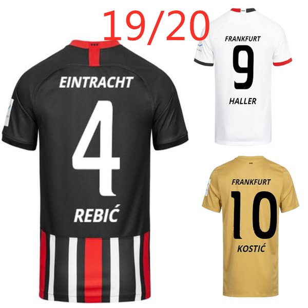 Eintracht frankfurt da co ta fernande  jovic haller ko tic  occer jer ey 2019 2020 home away thai quality a    football  hirt