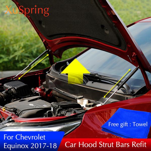 Для 2017 2018 Chevrolet Equinox передний капот двигателя поддержки гидравлический стержень п фото