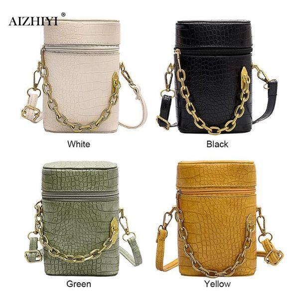 women solid bucket messenger purse retro alligator leather semicircle shoulder bags pu leather crossbody purse (539370723) photo