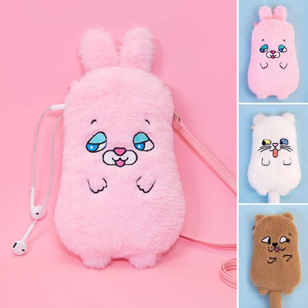 squint animal phone bag harajuku style cute funny messenger bag portable girl storage purses and handbags (531612522) photo