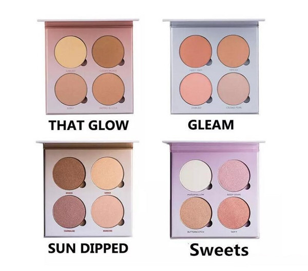 In tock make up bronzer highlighter makeup 4 color eye hadow face powder blu her palette dhl hipping