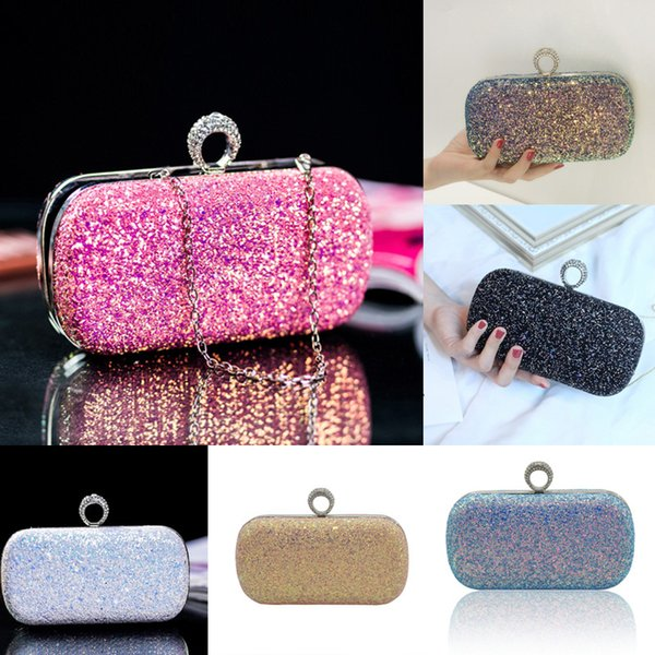 woman clutch purse shoulder chain blingbling bag (490145825) photo