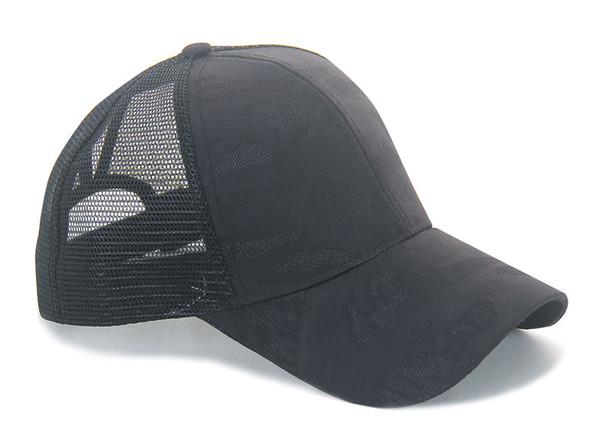 Регулируемой хвостик сетка Plain Trucker Comfy Бейсболка лето мужской бейсболка шапка фото