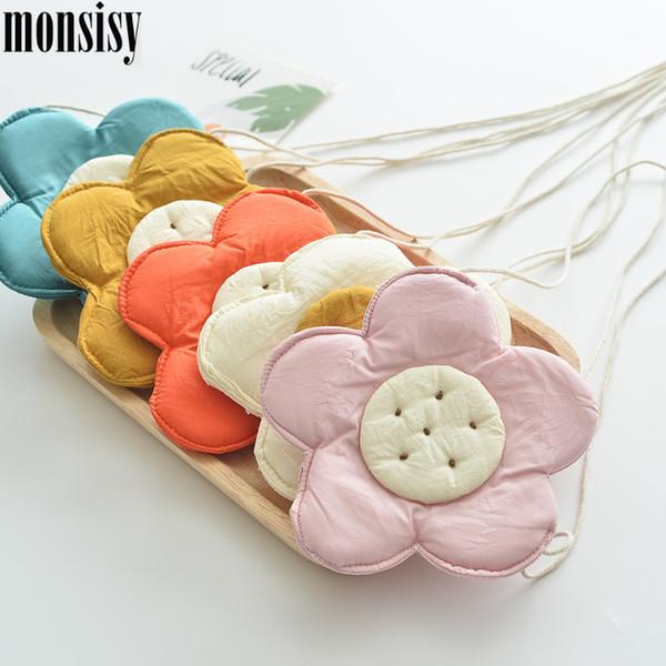 monsisy 10pcs/lot baby girl coin bag purse handbag kid small change pouch kawaii cotton flower crossbody bag children gift bolsa (547240762) photo