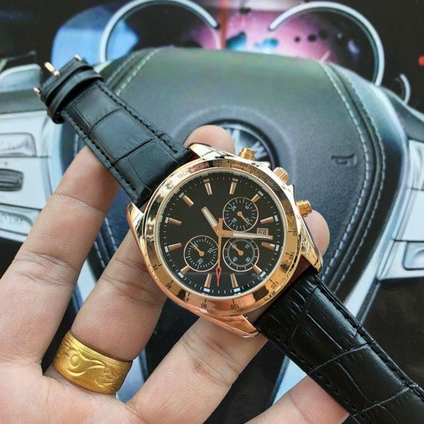 Новый Высочайшее качество роскошь Мужские кварцевые часы стали Спорт неподдельн фото