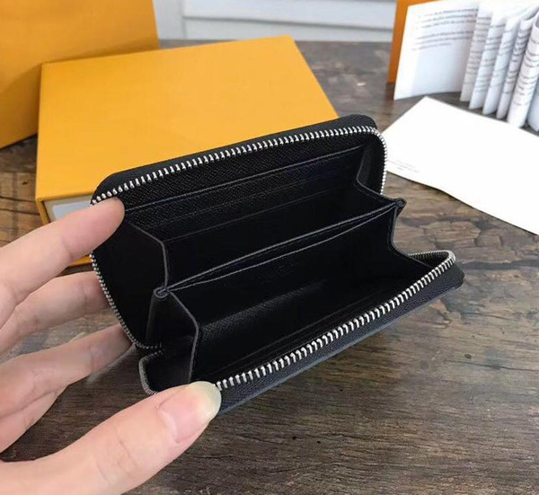 2019 wholesale designer wallet leather multicolor coin purse short wallet polychromatic purse lady card holder classic mini zipper pocket (466701795) photo