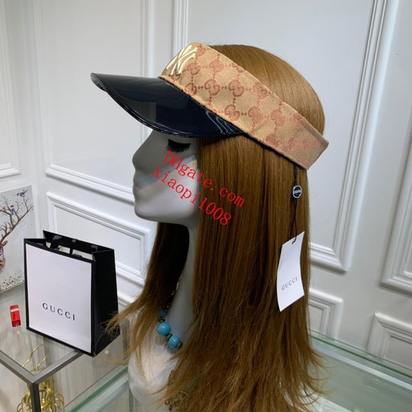 Outdoor men Visor Sun Hat Female Sunscreen Summer Sports Tennis Cap Fashion Lady Travel Beach Empty Top Hat Gci-1