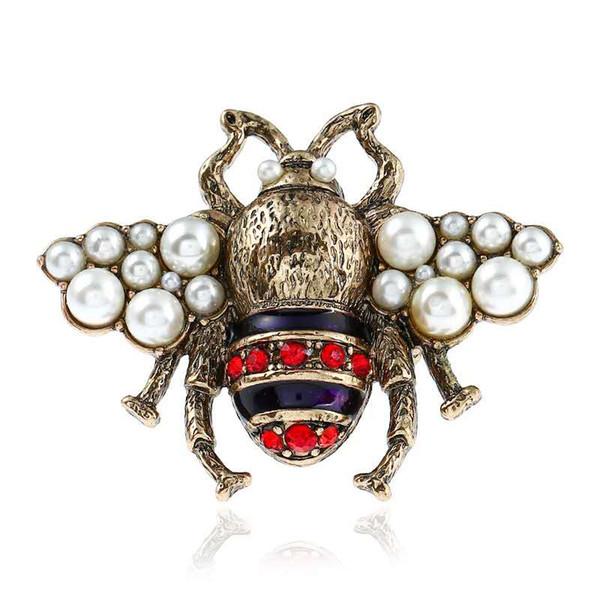 Hotsale личность женщины кольцо позолоченный Кристалл насекомое пчелы кольцо для де фото