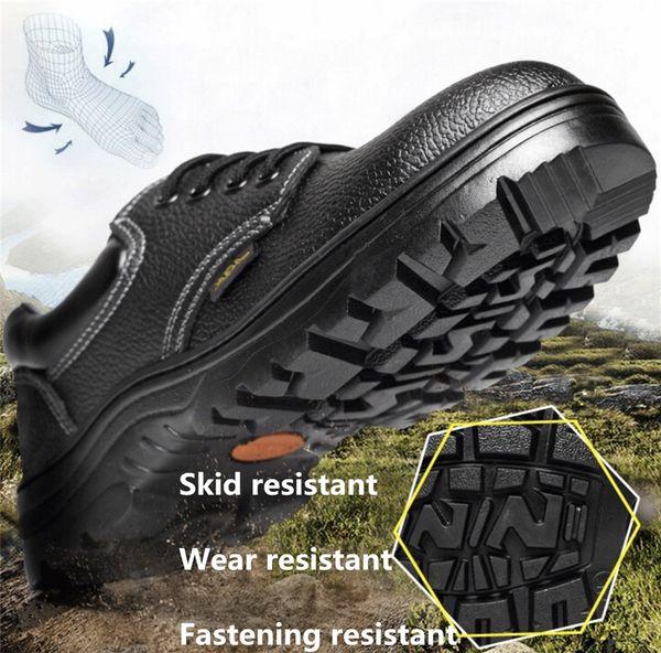 Защитная обувь дышащий стальной носок прокол доказательство на открытом воздухе фото