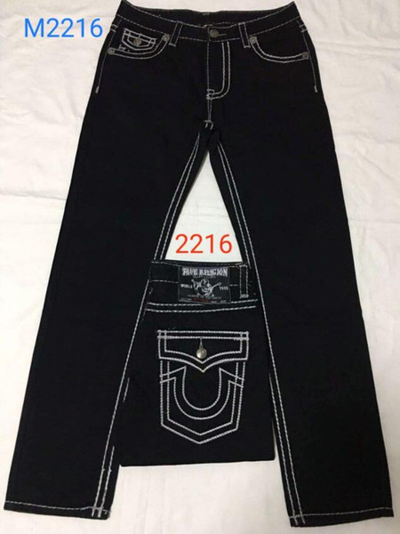 True Demin Jeans Men Religion Jeans Designers Fashion Jeans TR Straight Long Pants t2216