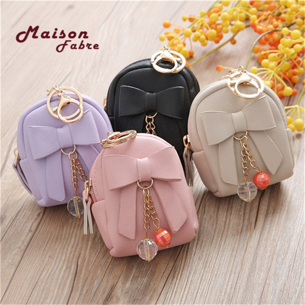 women bow pendant zip coin purse mini wallet lady student key bag coin purse pochette femme (482276541) photo