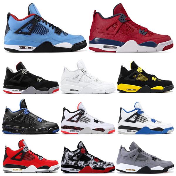 2019 Hotsale AirРетроJordan Баскетбольные кроссовки 4s Fire Red FIBA Cool Grey CACTUS JACK THUNDER Тату муж фото
