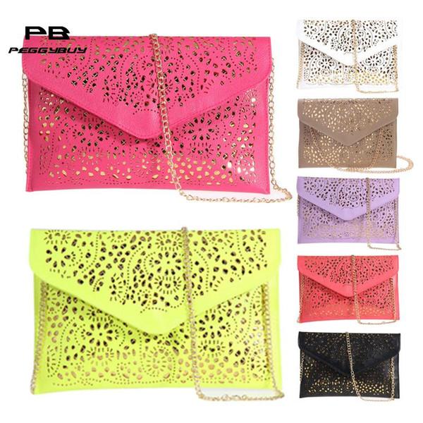 womens envelope foil floral purse lady handbag shoulder evening bag (492129215) photo