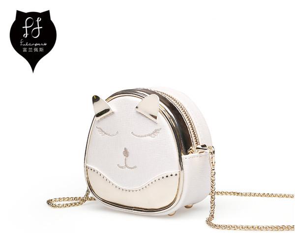 fulanpers 2018 new small women coin purse cute cat pattern bag mini coin purse clutch bag (490144280) photo