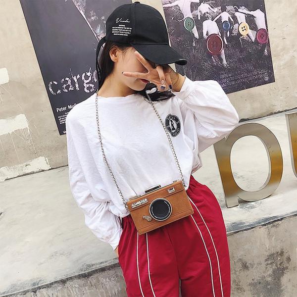 appareil photo personnalisé fashion design forme d'embrayage nubuck sac à bandoulière avslappnad mini messenger bag purse (café) (502432949) photo