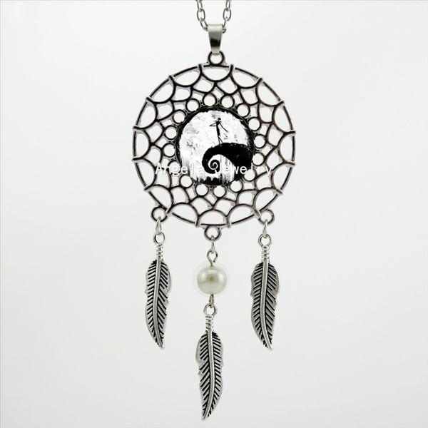 Модный стиль кошмар перед рождеством ожерелье кошмар перед рождеством кулон ожерелье ловца снов фото