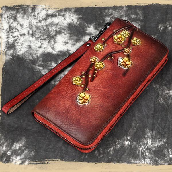 luufan luxury designer woman purse flower long wallet zipper with wristbelt for girls ladies party evening clutch purse female (498270063) photo