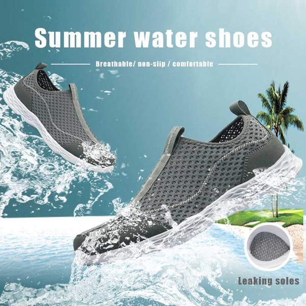 Outdoor Water Shoes Summer Breathable Men Swimming Sneakers Quick-Drying Aqua Beach Shoes Surfing Upstream Footwear Size 40-50