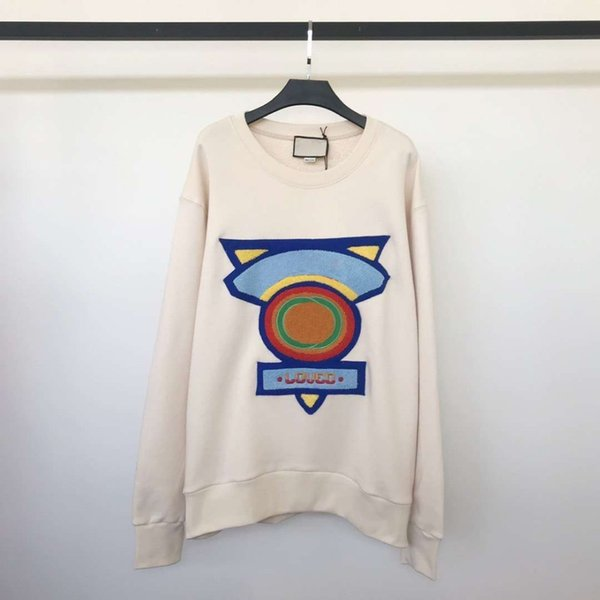 18fw wool cotton blend knitting weat hirt france luxury embroidery fa hion men women outwear couple ver ion hfl wy266