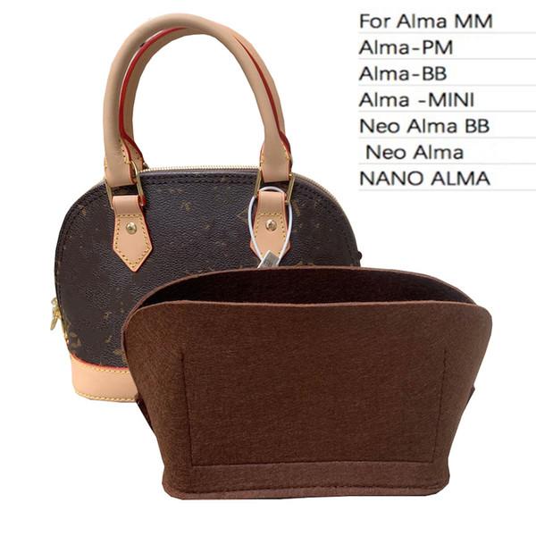 customized for alma series - purse organizer insert handbag organizer travel inner purse / 3mm felt handmade/21 colors (549137225) photo