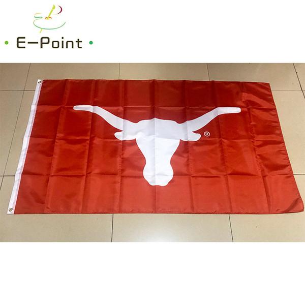 Флаг NCAA Техас Longhorns полиэстер флаг 3ft * 5ft (150 см*90 см) флаг баннер украшения летающий фото