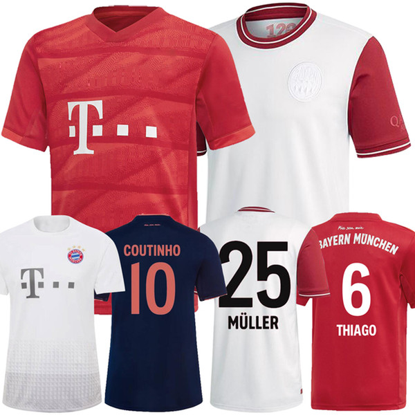 Бавария Мюнхен 19 20 Джеймс дома в гостях третий Мюнхен 120th футбол Джерси 2019 2020 Левандовски Мюллер Хуммельс футбольная рубашка фото