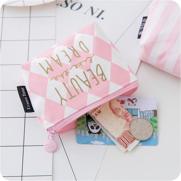 2019 canvas mini women coin purses casual solid zipper standard short wallets cute girl kawaii coin purses female money bag (449582841) photo
