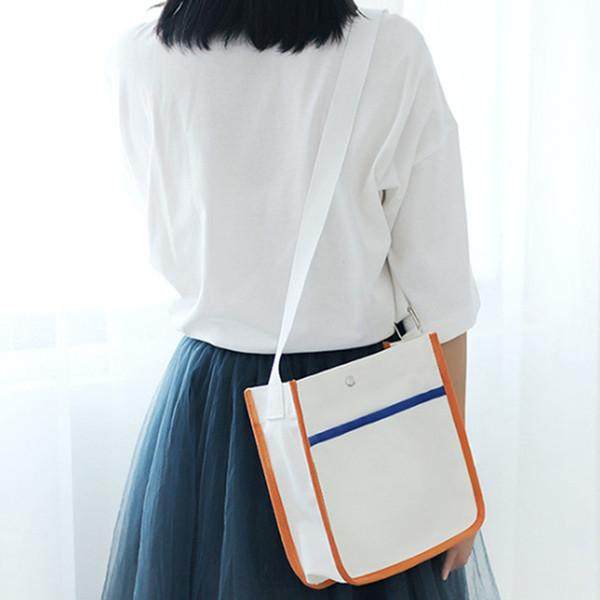good sale women canvas bag casual woman messenger bag handbags ladies crossbody canvas shoulder woman totes purse (499085193) photo